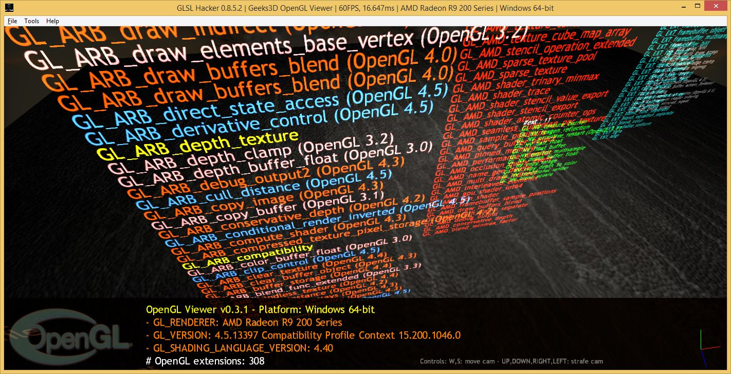 Catalyst 15.7 WHQL, Radeon R9 290X - OpenGL viewer / GLSL Hacker