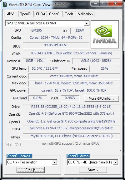 GPU Caps Viewer 1.25.0