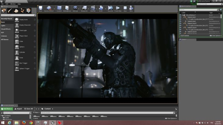 Unreal Engine 4 Infiltrator Demo Released