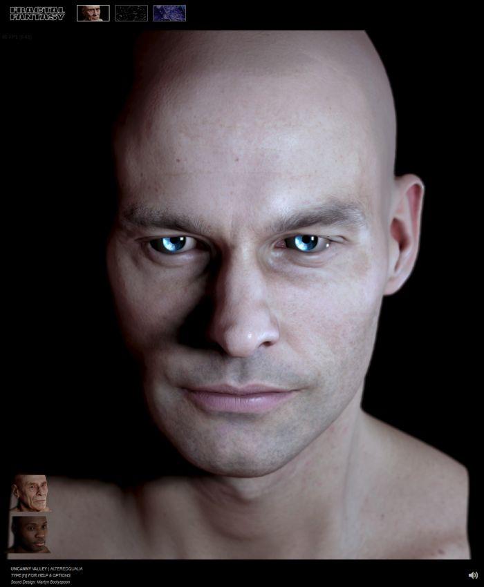 WebGL - Uncanny Valley - Head rendering