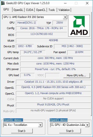 AMD Catalyst 15.11.1 - GPU Caps Viewer