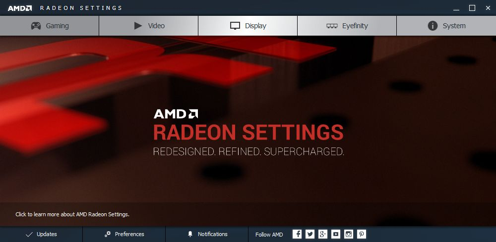 AMD Crimson driver - Settings