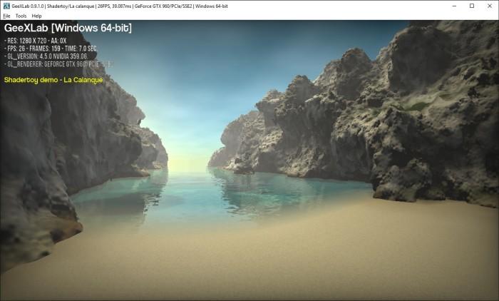 La calanque, pixel shader test