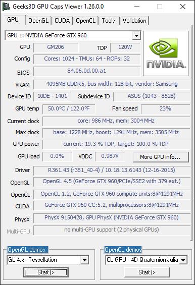 GPU Caps Viewer 1.26.0