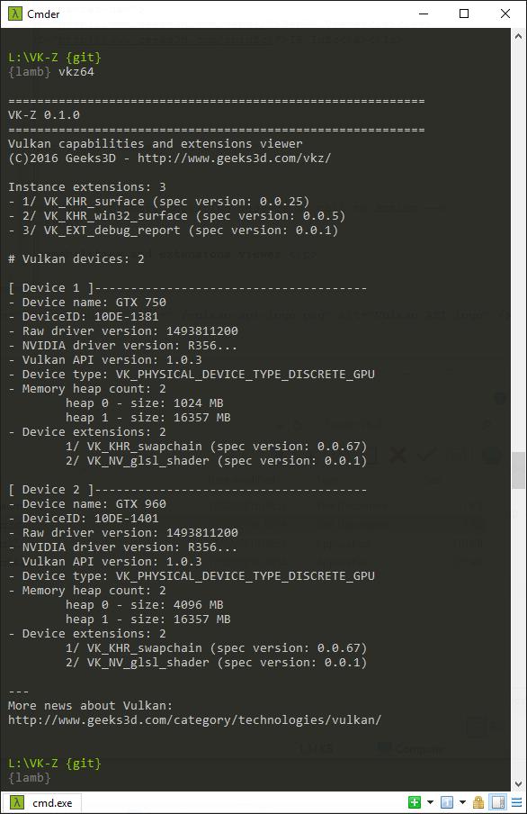 VK-Z Vulkan API information