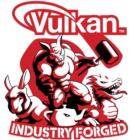 Vulkan API Industry Forged logo