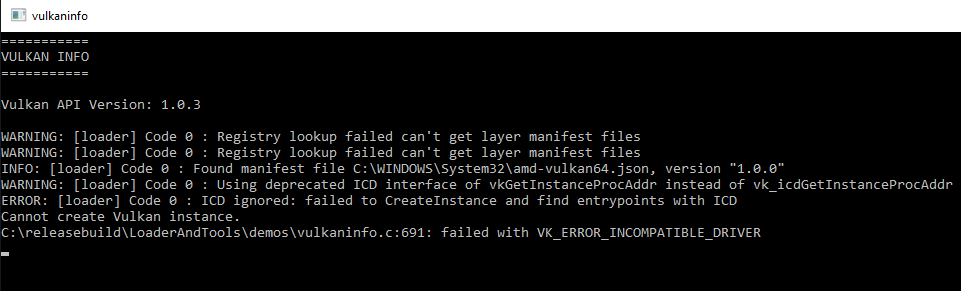VK-Z Vulkan error on AMD