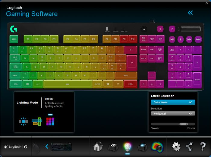 Logitech G810 Orion Spectrum gaming keyboard - Gaming Software