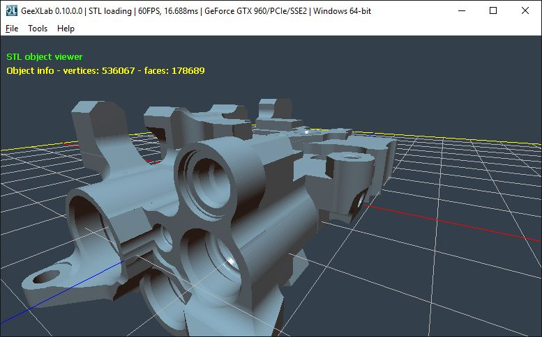 GeeXLab + STL 3D format