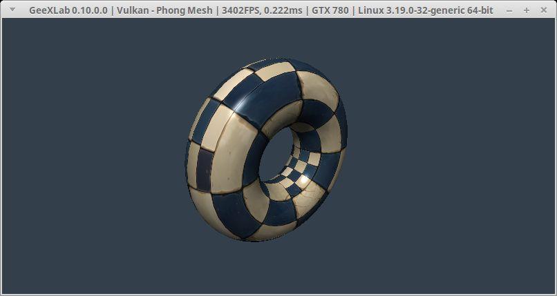 GeeXLab + Torus mesh + Vulkan