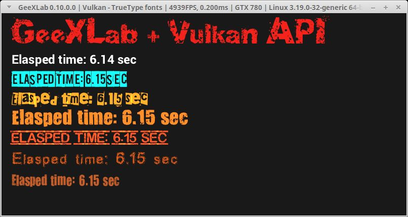 GeeXLab + TrueType fonts + Vulkan