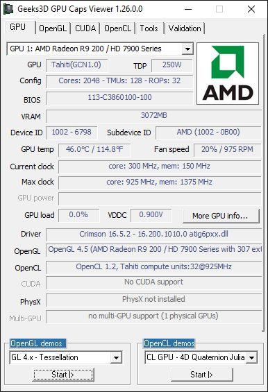 AMD Crimson + GPU Caps Viewer