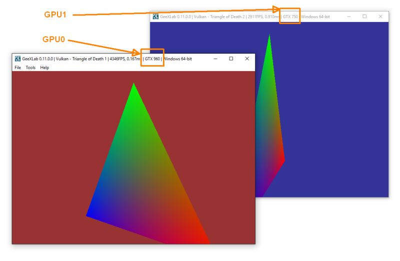 How to Run a Vulkan or Direct3D 12 Demo on a Particular GPU