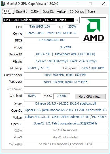 GPU Caps Viewer 1.30.0