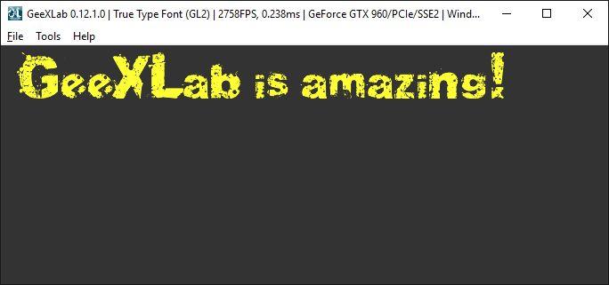 GeeXLab - True Type font example
