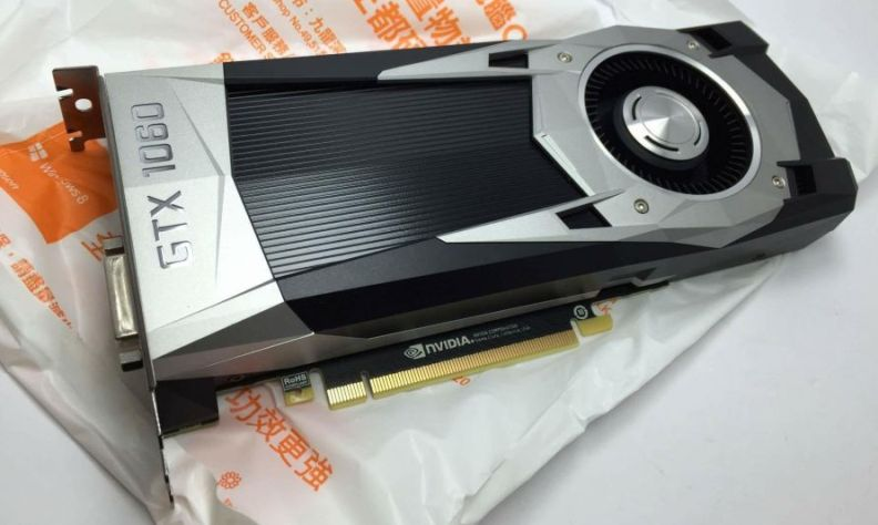 NVIDIA GeForce GTX 1060 Pictured