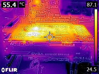 EVGA GTX 1060 SC - Thermal imaging under full stress